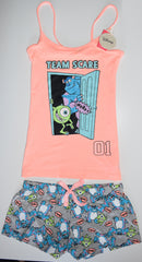 MONSTERS INC PRIMARK VEST SHORT PJ SET DISNEY PYJAMAS Womens UK Sizes 4 - 16