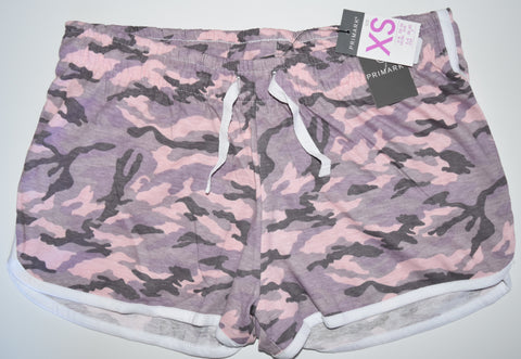 CAMO SHORTS PRIMARK PINK ARMY camouflage print Womens Ladies UK Sizes 4 - 24