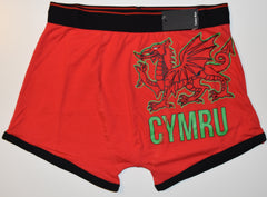 WALES Mens PANTS WELSH DRAGON CYMRU Boxers Underwear Sizes M - XXL