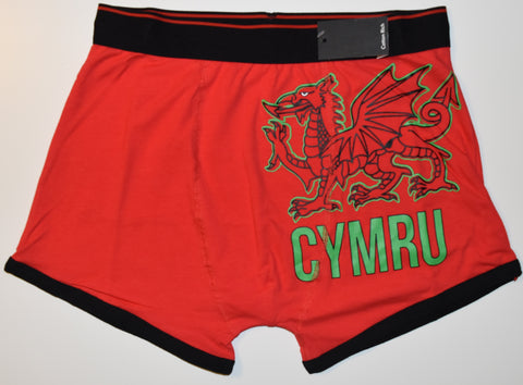 WALES Mens PANTS WELSH DRAGON CYMRU Boxers Underwear Sizes L - XL