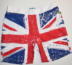 BRITISH FLAG SWIM SHORTS PRIMRK UNION JACK POCKETS MEN FRONT BACK PRINT UK S-XXL
