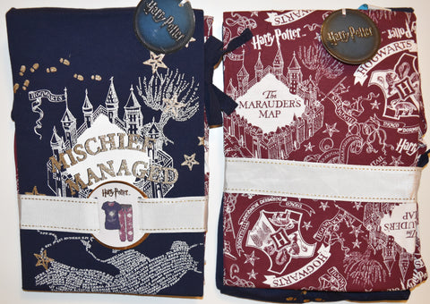 MARAUDERS MAP PYJAMAS PRIMARK PJ SET HARRY POTTER mischief managed Ladies Sizes 6 - 14