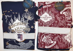 MARAUDERS MAP PYJAMAS PRIMARK PJ SET HARRY POTTER mischief managed Sizes 6 to 14