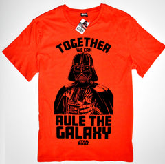 STAR WARS T SHIRT DARTH VADER MENS RULE THE GALAXY 100% COTTON UK Sizes M - XXL