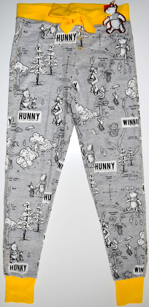 WINNIE THE POOH LEGGINGS PRIMARK HUNNY PJ BOTTOMS 95% COTTON UK Sizes 6 to 20
