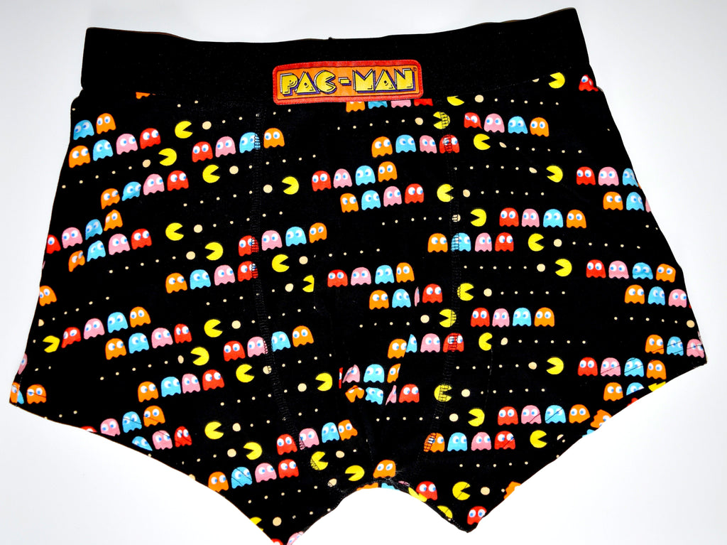 PACMAN PANTS Mens Boxers PAC-MAN FRONT AND BACK PRINT Underwear Sizes M - XXL