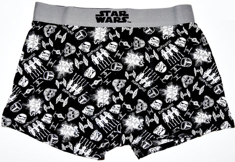 STAR WARS PANTS Mens BLACK CARTOON STYLE Boxers Underwear Sizes M - XXL