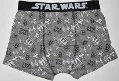 STAR WARS PANTS Mens GREY CARTOON STYLE Boxers Underwear Sizes M - XXL