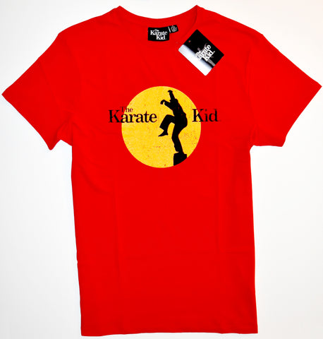 KARATE KID T SHIRT MENS 100% COTTON RED DANIEL Crane Kick UK Sizes M - XXL
