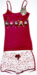 HARRY POTTER PJ SET PRIMARK VEST T-Shirt CHIBI Shorts HOGWARTS PYJAMAS UK Sizes 4 - 20