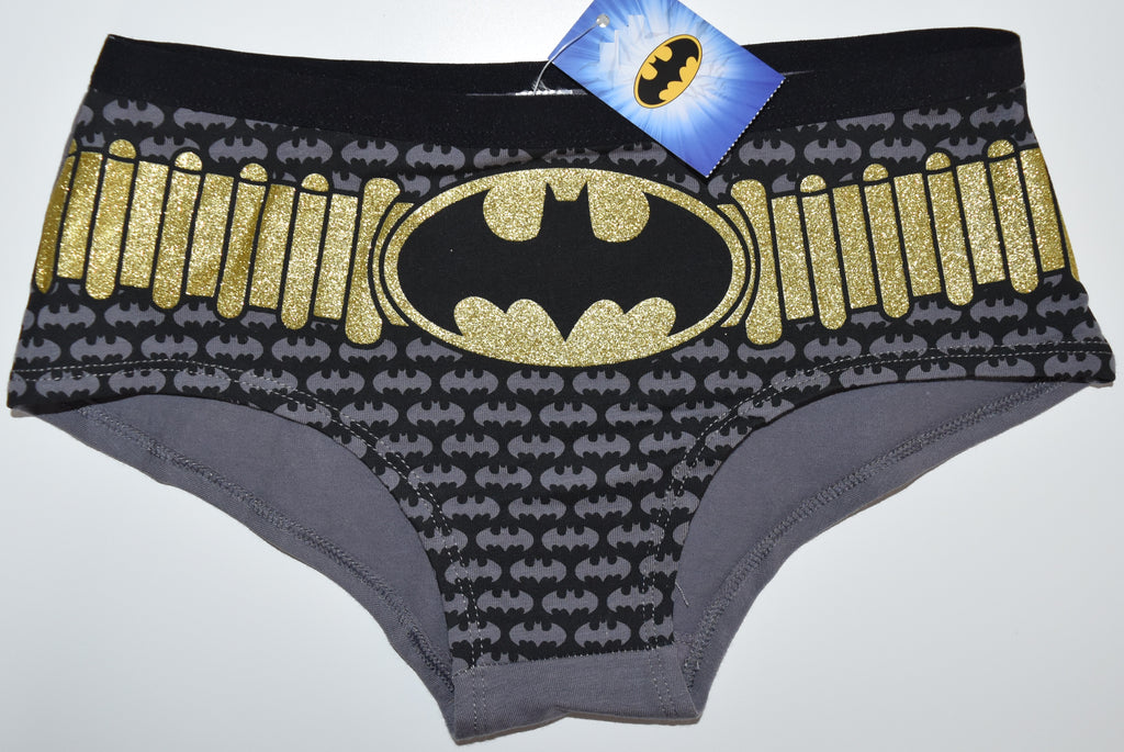 BATMAN KNICKERS GOLD BELT STYLE WOMEN LADIES SIZES UK 6-20