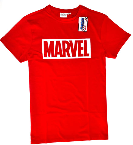 MARVEL T SHIRT MENS PRIMARK RED 100% COTTON UK Sizes M - XXXL