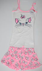 ARISTOCATS PJ SET MARIE PRIMARK VEST T-Shirt Shorts PYJAMAS UK Sizes 4 to 20