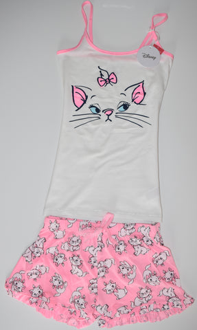 ARISTOCATS PJ SET MARIE PRIMARK VEST T-Shirt Shorts Ladies PYJAMAS UK Sizes 4 - 20