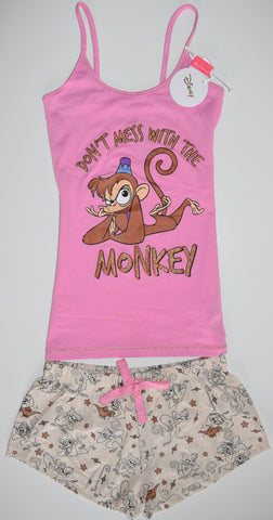ABU MONKEY ALADDIN PJ SET PRIMARK VEST T-Shirt Shorts Ladies PYJAMAS UK Sizes 4 - 20