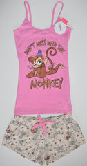 ABU MONKEY ALADDIN PJ SET PRIMARK VEST T-Shirt Shorts PYJAMAS UK Sizes 4 to 20