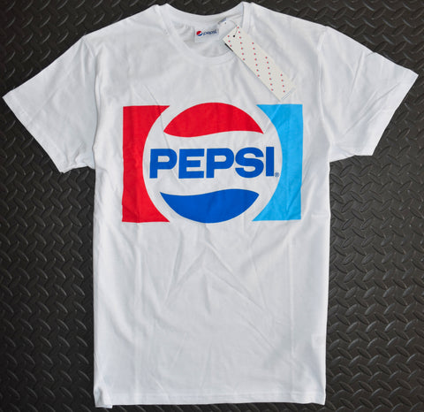PEPSI T SHIRT MENS COLA CLASSIC PRIMARK WHITE 100% COTTON UK Sizes M - XXXL