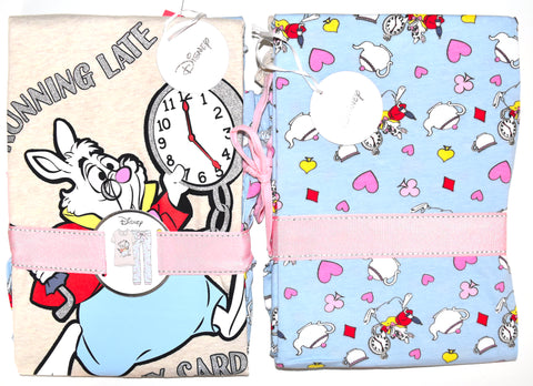 WHITE RABBIT PJ SET ALICE IN WONDERLAND PRIMARK Ladies PYJAMAS UK Sizes 4 - 20