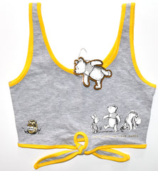 Primark Winnie The Pooh Disney Tie Crop Top Tee Ladies Womens UK size 6 to 14
