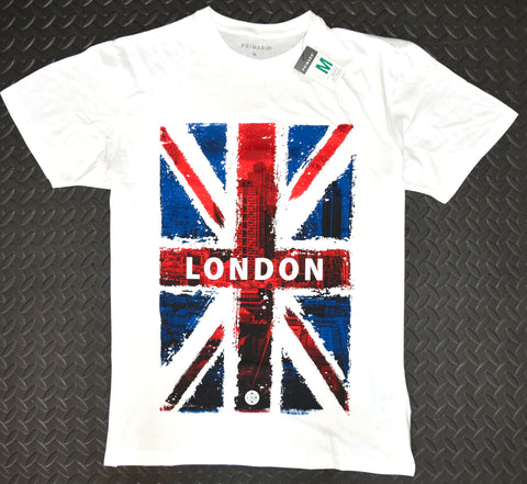 Primark UK Flag Mens T Shirt 100% Cotton  Union Jack British London NEW Sizes XS - XXL