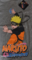 Naruto Shippuden T Shirt Manga Mens Grey Anime UK Sizes M to XXL