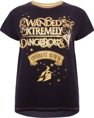 PRIMARK HARRY POTTER T-Shirt FANTASTIC BEASTS Womens Ladies UK Size 10 - 12 NEW