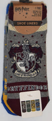 PRIMARK Harry Potter Socks Hogwarts House Crests Shoe Liners 4pk Womens Size 4-8