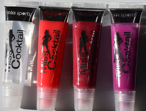 Miss Sporty Lip Gloss 'Miss Cocktail' NEW Clear Pink Lilac Cranberry Shine Slick - Click. Buy. Love. - 1