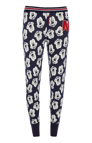 PRIMARK Mickey Mouse PJ Bottoms DISNEY Leggings Navy Women's UK Sizes 4 - 20 NEW