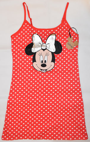 PRIMARK Disney Minnie Mouse NIGHTIE T Shirt Red Polka Dot PJ UK Sizes 4 - 20 NEW