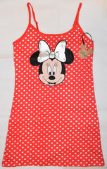 PRIMARK Disney Minnie Mouse NIGHTIE T Shirt Red Polka Dot PJ UK Sizes 4 to 20