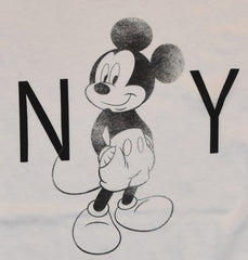 Primark Mickey Mouse T Shirt NY Disney Womens Ladies White Black Size 6-20 NEW