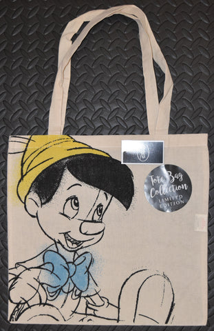 Disney Pinocchio CANVAS TOTE SHOPPER SHOPPING SHOULDER CARRIER BAG REUSABLE BNWT
