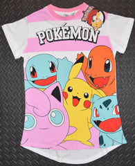 PRIMARK Pokemon T Shirt PJ Pikachu Bulbasaur Womens PYJAMAS NEW UK Sizes 6 to 8