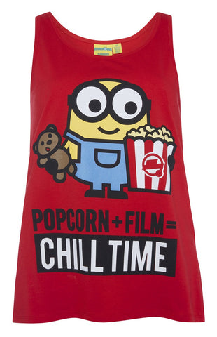 PRIMARK Minions PJ Vest T Shirt Bob Chill Time PYJAMAS Sizes 6 - 20 NEW - Click. Buy. Love.