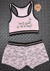 PRIMARK Disney Tinkerbell Crop Vest & Shorts Set PJ PYJAMAS Size 10 to 20