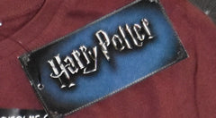 Primark HARRY POTTER T Shirt Book Titles Womens Burgundy UK Sizes 12 or 14