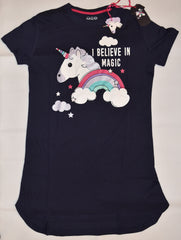 PRIMARK Unicorn Emoji NIGHTIE T Shirt 'I Believe In Magic' PJ  Sizes 4 - 20 NEW
