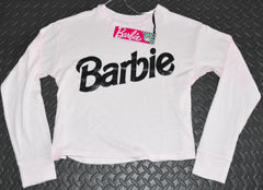 Barbie Primark Top T Shirt Crop Sweater Long Sleeve Super Soft Pink Size 10 - 20