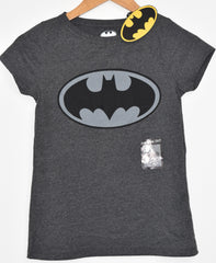 Primark Batman T Shirt Womens Ladies DC Comics Black & Grey UK Size 6-20 NEW