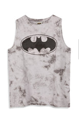 Primark Batman T Shirt VEST DC Comics TIE DYE Grey Womens Ladies UK Sizes 6-20