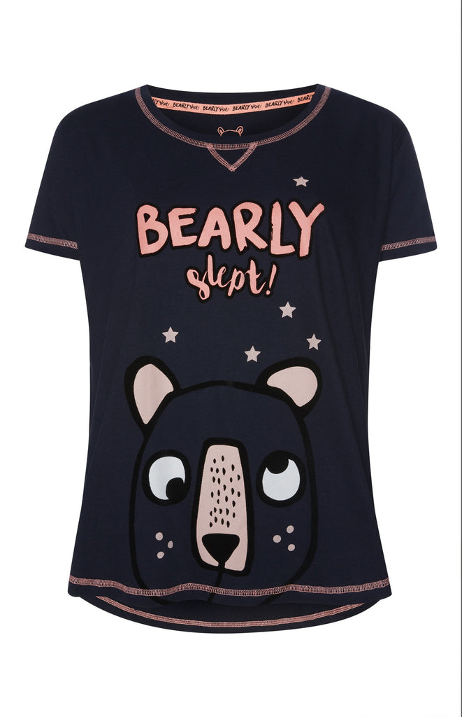 PRIMARK Bearly Slept T Shirt PJ womens PYJAMAS Sizes 6-20 - Click. Buy. Love. - 1