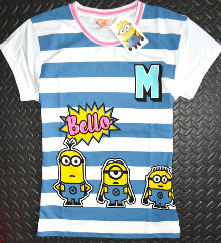 Minions Bello T Shirt Primark 100% Cotton Ladies Womens UK Sizes 6 to 20