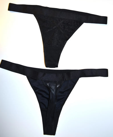 Sexy Black Thong Knickers Panties Primark Ladies Womens UK Sizes 6 to 16
