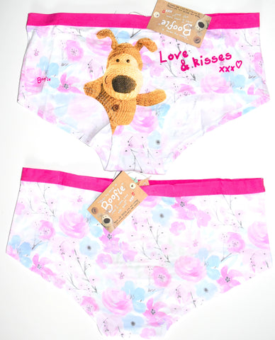 Boofle Knickers Panties Love Kisses Underwear Women Ladies UK Sizes 8 to 20