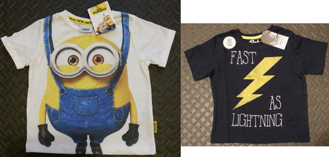 Primark T-Shirts Boys Minion, Various Sizes 1-8 years NEW - Click. Buy. Love. - 1