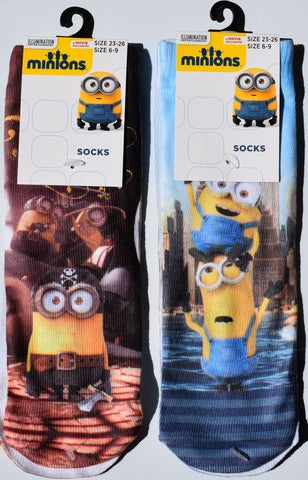 Minions Boys Socks New York Pirate Despicable Me UK Shoe Sizes 6-9 or 9-12 - Click. Buy. Love. - 1