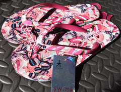 Primark Flip Flops Butterfly Womens Ladies Butterflies Thongs Sandals Pink UK3-8 - Click. Buy. Love. - 2