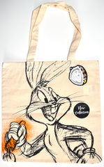 Bugs Bunny Canvas Tote Bag 100% Cotton Looney Tunes WB Shopping Shoulder BNWT