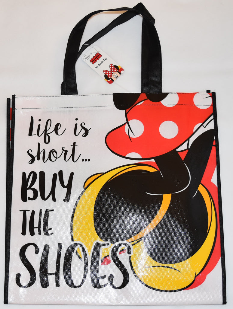 Minnie Mouse Disney TOTE BAG Shoes SHOPPER SHOPPING SHOULDER WIPE CLEAN BNWT